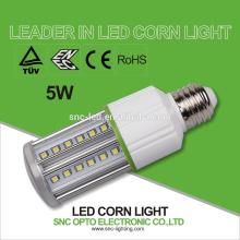 SNC IP64 conduziu o CE RoHS 5W da luz de bulbo E27 ENEC TUV do milho da luz do milho / diodo emissor de luz