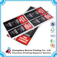 Impresión de adhesivo de papel adhesivo impermeable a la medida