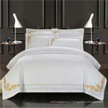 100% coton brodé de haute qualité ensemble de literie pour la maison / hôtel ensemble de literie