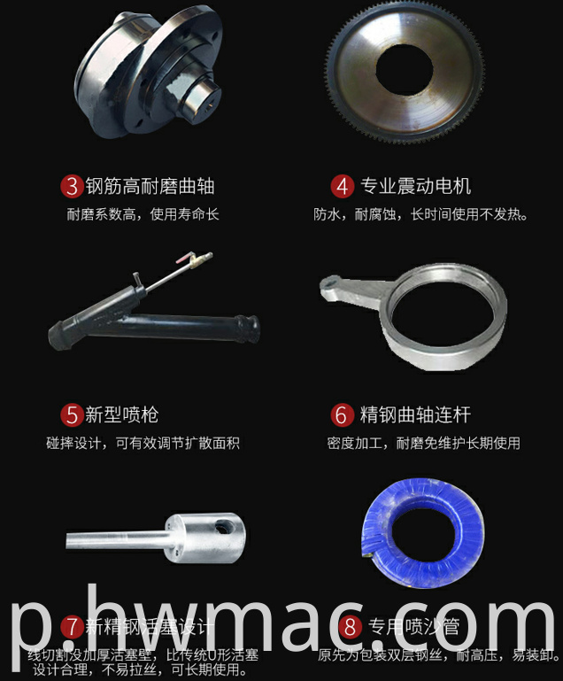 spray machine spare parts