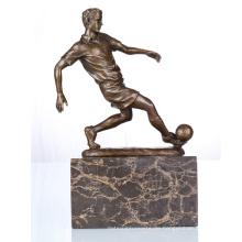 Sport-Figur Fußball-Spieler Home Deko Bronze Skulptur Statue TPE-737