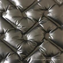 100% polyester imperméable vers le bas en tissu de manteau de veste remplie