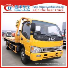 JAC 3TON lift weight euro 4 new cheap road wrecker tow trucks sale