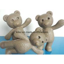 Mini figura animal niños infantiles inflables de peluche oso juguetes de plástico
