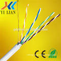 4pair 23awg cat 6 utp cable 100m reel laptop double cat5e utp network cable lan with RHOS CE FC CCA conductor