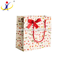 Customized Size!HOT gift packaging box with flowers ribbons for christmas packaging