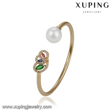 51771 xuping Wholesale special design ladies jewelry elegant pearl bangle