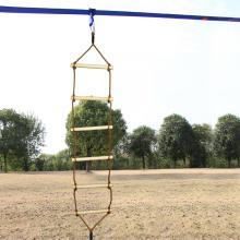 Outdoor-Spielplatz Einköpfige Kletter-Holz-Seilleiter