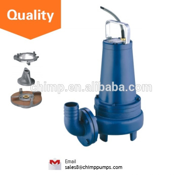 """CHIMP WQ(D)K SERIES 2"""" outlet 1.5HP Normal Stand with Cutting Impeller Electric Submersible Sewage Pumps"""