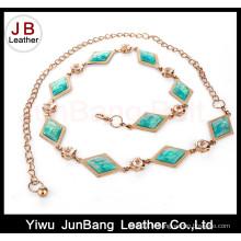 Ceinture à chaîne et métal et turquoise pour robes