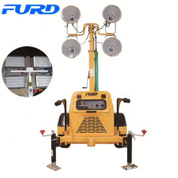 7 Meters Telescopic Mobile LED Tower Light With Diesel Generator