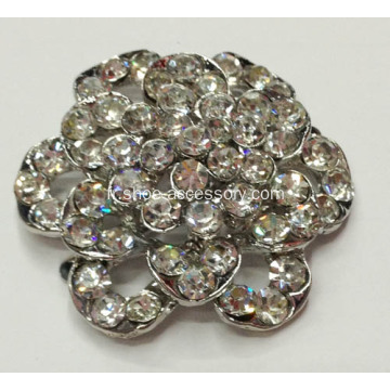 Vintage Flower Shapes Strass Shoe Clips