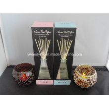3.6oz Rose Aroma Reed Diffuser in Glasflasche