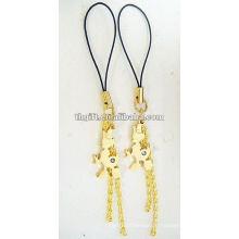fashional metal mini form mobile phone straps