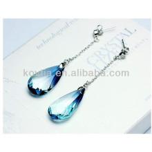 Charm sapphire dangle earrings fashion austrian crystal drop earrings