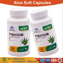 Aloe vera capsule molle pour l'amincissement et la constipation / comprimés à base de plantes OEM