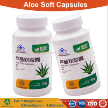 Aloe vera soft capsule for slimming and constipation/OEM herbal tablets