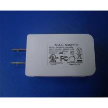Chargeur de voyage mobile USB de couleur blanche / noire 5V 2A avec approbation UL