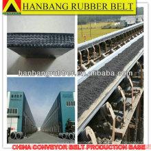 banda transportadora de tela negra resistente goma PVC680S