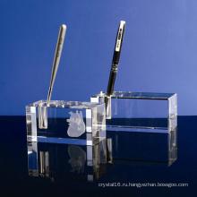 Один Кристалл стекло держатель ручки ремесло для украшения офиса