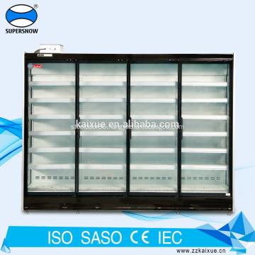 Supermarket multi deck glass door cooler