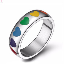 Design your own gay pride engagement gay promise stainless steel rings