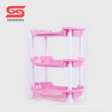 Armazenamento de design simples 3 camadas de plástico tempero rack para cozinha