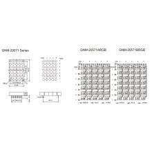 2.0 pulgadas de altura 5.0mm matriz de DOT de color completo (GNM-20571Axx-Bxx)