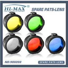 5 in 1 grün / rot / gelb / blau / weiß matt 45mm C8 Fackel Filter Taschenlampe Objektiv