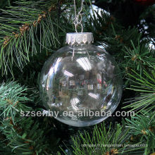Seamless 80mm décorations de Noël boules de plastique transparentes