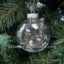 Бесшовные 80мм рождественские украшения прозрачная пластиковая шары