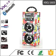MP3, Handy Bluetooth Klassische Retro Tragbare Karaoke LED Glühbirne Lautsprecher
