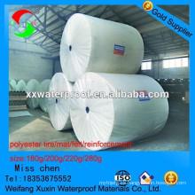 La alfombra de poliéster reforzada más profesional para sbs aplicación membrana impermeable para sbs app membrana impermeable