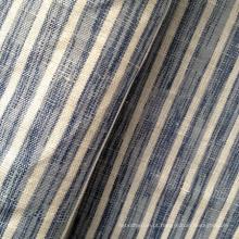 Algodão de linho misturado Strip Shirting tecido (QF13-0498)