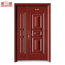 China-Lieferantenwohngebäudewohnende doppelte Luxus-Edelstahl-Eingangstüren