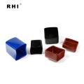 """Embouts carrés en vinyle rouge 1-1 / 2 """"x 1-1 / 2"""" pour unistrut"""