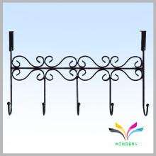Powder coated metal durable save space door rack hanger hook