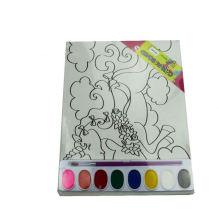 Tablero de lona DIY colorear impresión de acuarela
