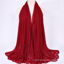 Fashion all-match polyester multi color scarf wholesale hijab malaysia muslim scarf hijab