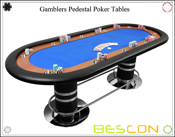 Gamblers Pedestal Poker Tables-2