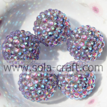 Blue Multicolor Resin Rhinestone Beads 18*20MM Solid Beads