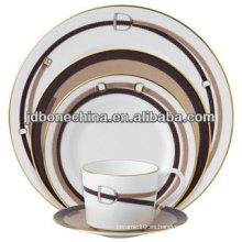 Porcelana plata micro platino cacerola clásico diseño porcelana cerámica vajilla