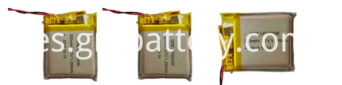 502530 350mAh Cheap Rechargeable Lithium Ion Polymer Batteries Pack for Bluetooth Headset and Audio, POS Machine