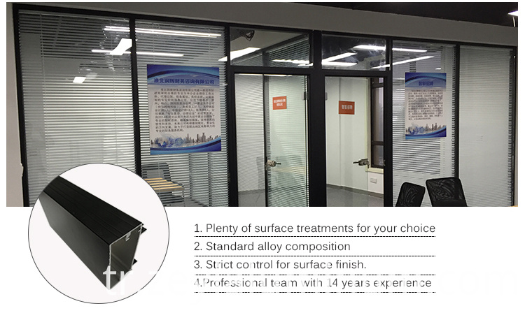 Aluminum Profile Powder Coated Office Partition