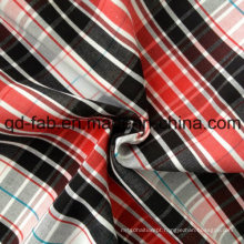 100% fio de algodão tecido tingido (qf13-0215)
