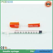 seringa de insulina descartável de plástico