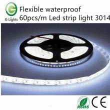 Flexible impermeable 60pcs / m llevó la luz de tira 3014