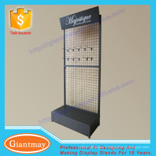 powder coating metal wire mesh display racks and stands for hanging items