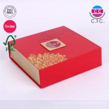 benutzerdefinierte faltbare Mooncake-Papier-Box ohne Griff
