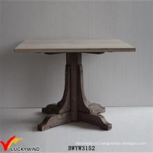 Ферма Chic 4 Seaters Square Твердая деревянная тумба Обеденный стол